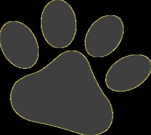 Dog paw art public domain clipart