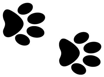 Dog paw dog prints clip art