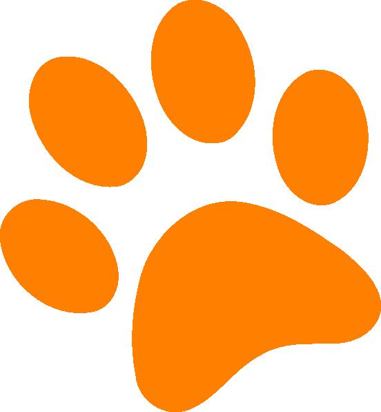 Dog paw paw print clip art