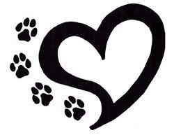 Dog paw paw print tattoo clipart tats heart tattoos