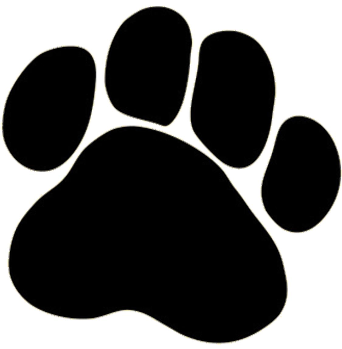 Dog paw print clip art