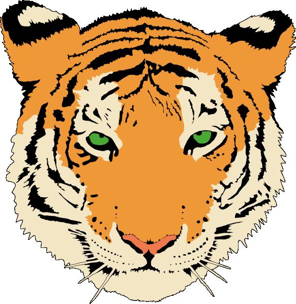 Face tiger clip art