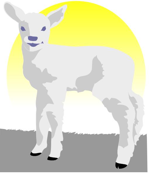 Lamb clip art at vector clip art free
