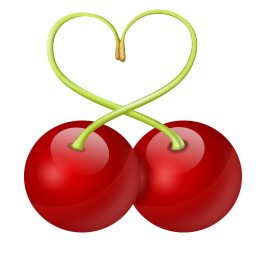 Red cherry image free download clipart