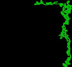 Vine border green clip art at vector clip art