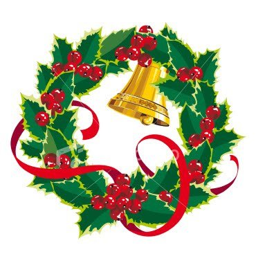 Wreath clipart christmas garland free clipart images
