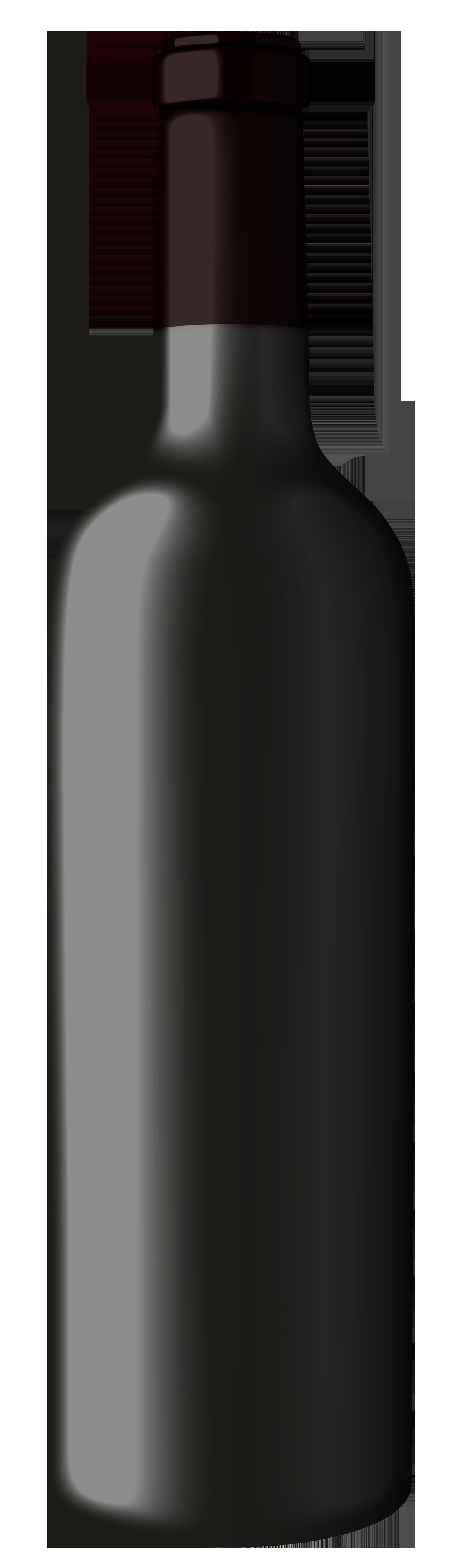 Black wine bottle clipart the clipart
