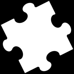 Blank puzzle piece clip art vector clip art free