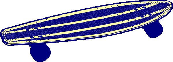 Blue skateboard clip art at vector clip art