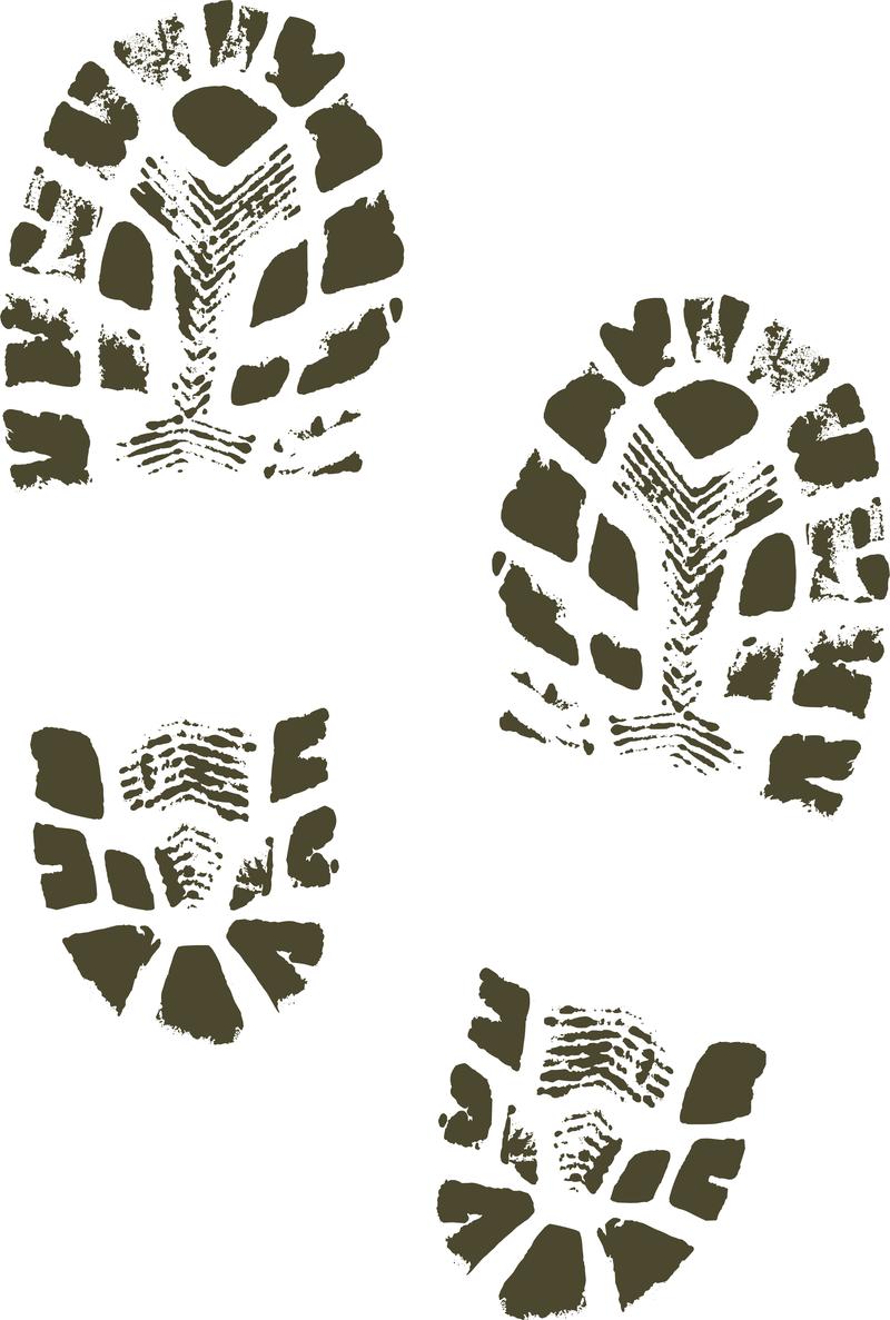 Boots shoes shoe print clip art free vector download