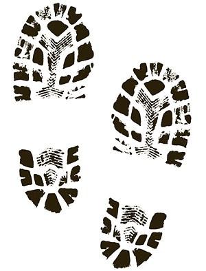 Shoe print gallery for sneaker footprint clip art image #19971
