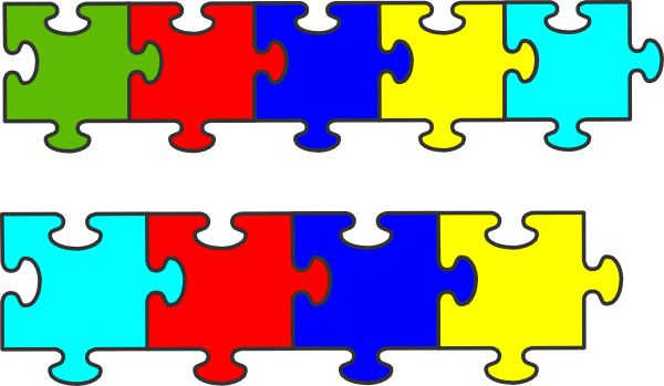 Border puzzle piece clip art at vector clip art
