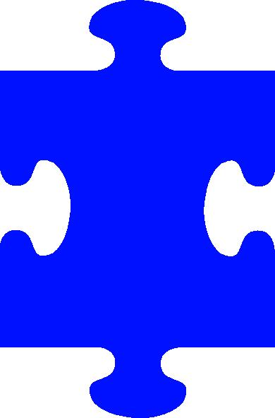 Free clip art blue puzzle piece clipart