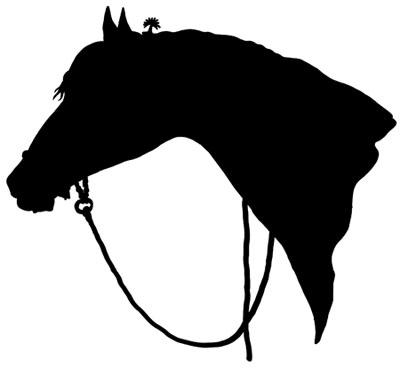 Free horse head silhouette clip art hor