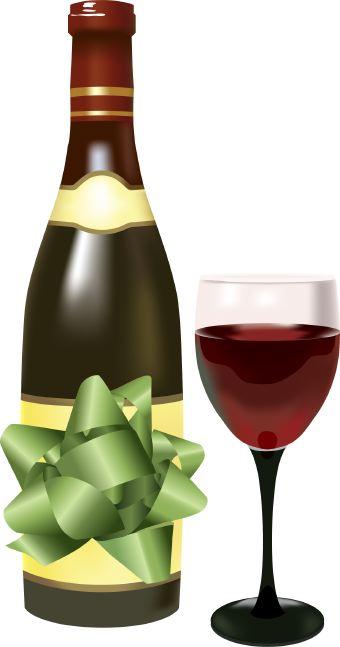 Gallery for birthday wine bottle clip art