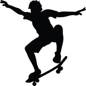 Gallery for clip art boy on skateboard