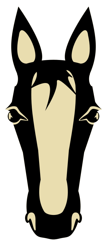 Horse head horse clip art