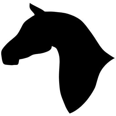 Horse head silhouette clip art free 2