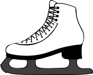 Ice skating clip art at vector clip art