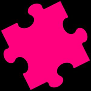 Pink puzzle piece clip art vector clip art free