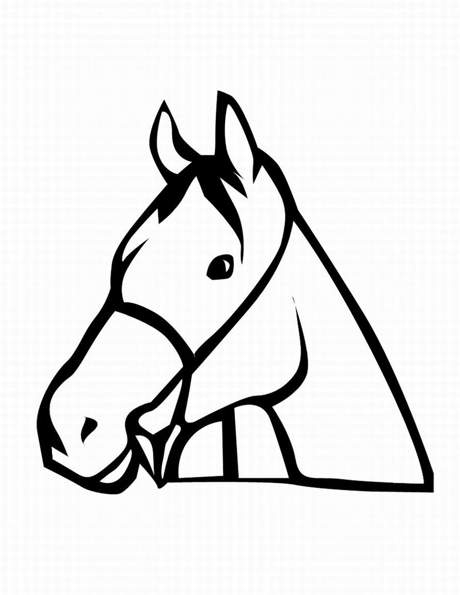 Printable horse head clipart