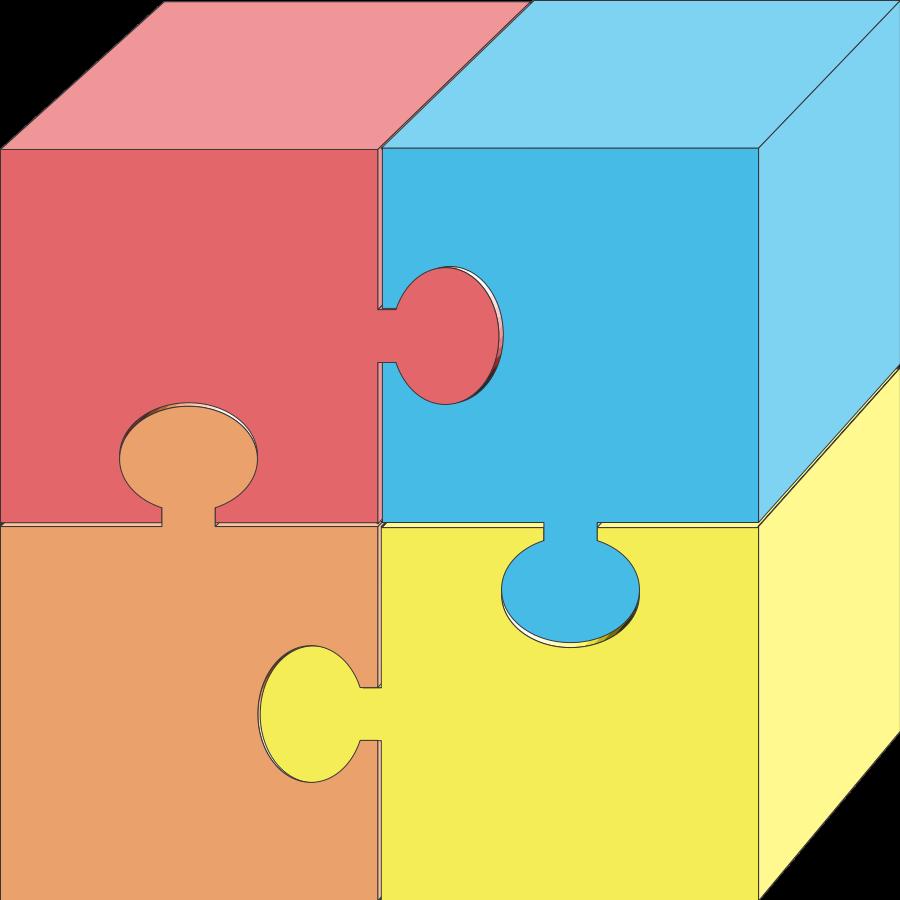Puzzle pieces 2 clipart vector clip art free
