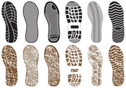 Shoe print women clip art
