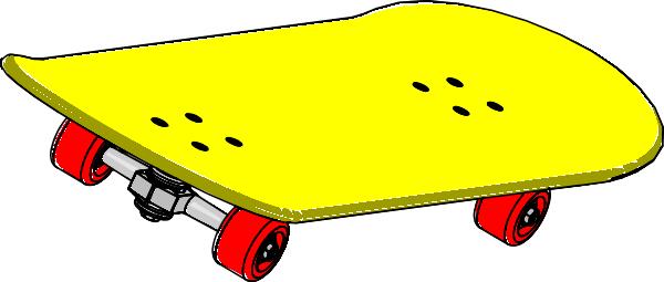 Skateboard clip art at vector clip art