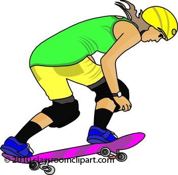 Skateboard skate clipart