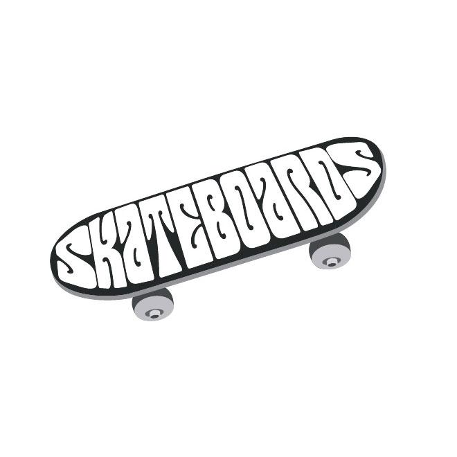 Skateboard skate vector clip art