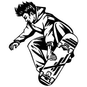 Skateboarding skateboard clipart vinyl cutter plotter vector art