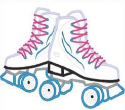 Skating free roller skate clipart