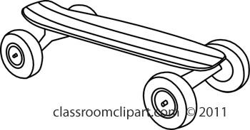 Sports skateboard classroom clipart