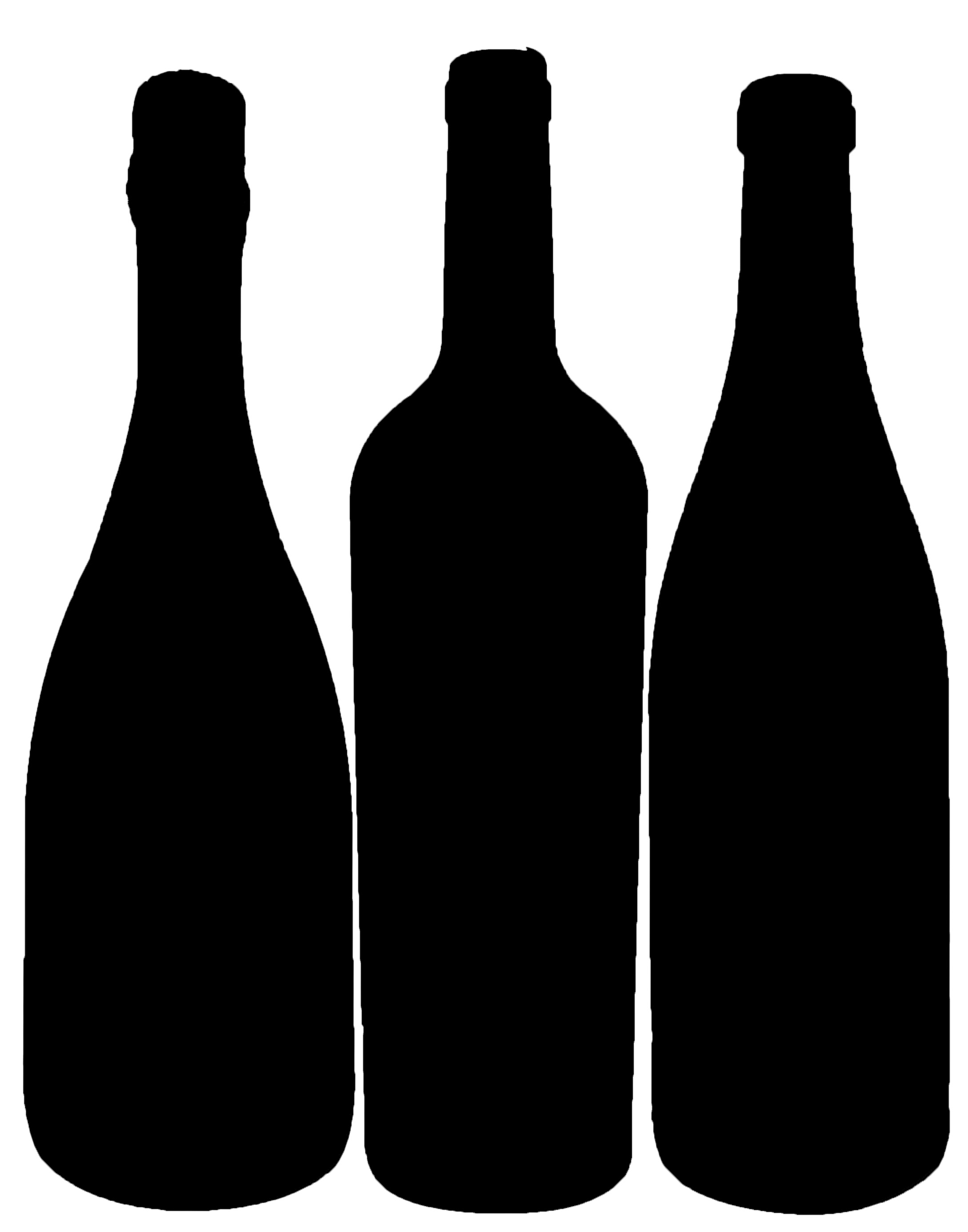 Wallpaper wine bottle silhouette clipart