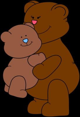 Hugs mother clip art