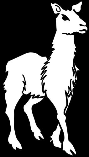 Line art vector clip art of llama public domain vectors