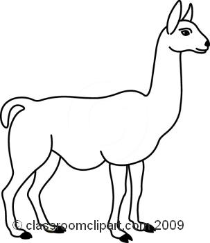 Llama animals w classroom clipart