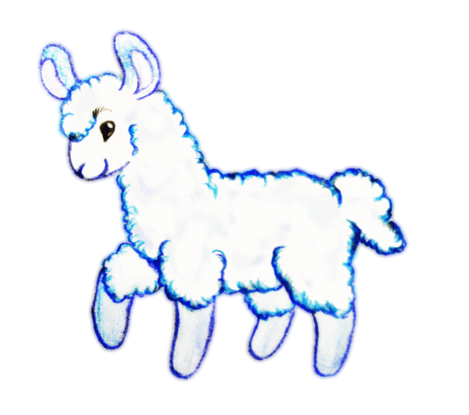 Llama clipart 2
