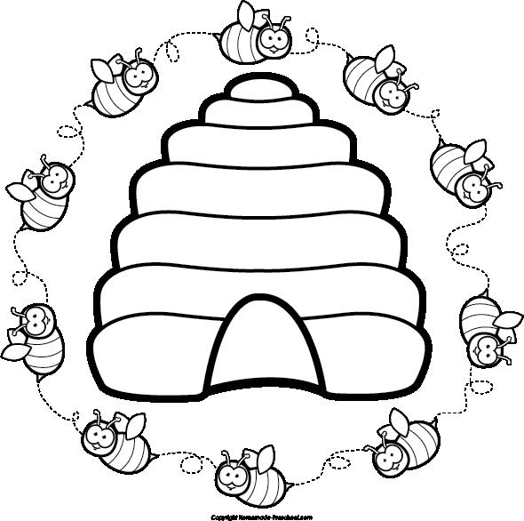 Beehive clipart etc de flor