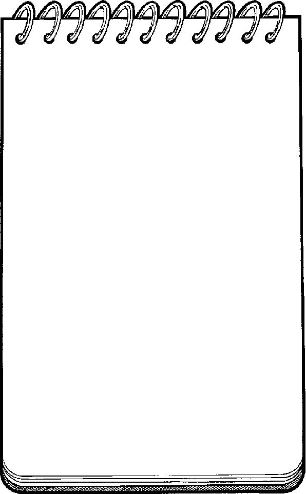 Blank notepad clip art