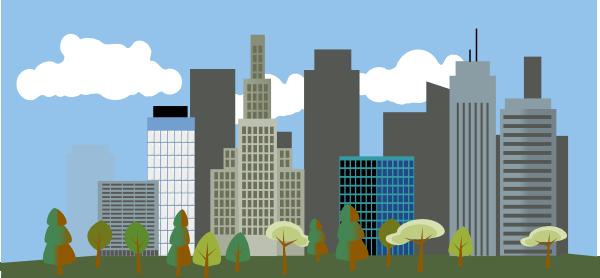 Cityscape clip art at vector clip art