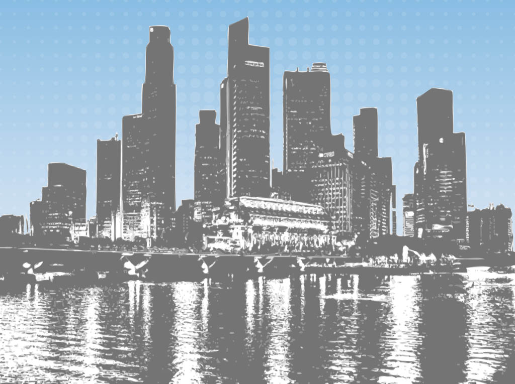Cityscape gallery for chicago skyline clip art free image #20650