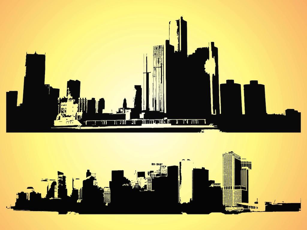 Cityscape graphics clipart