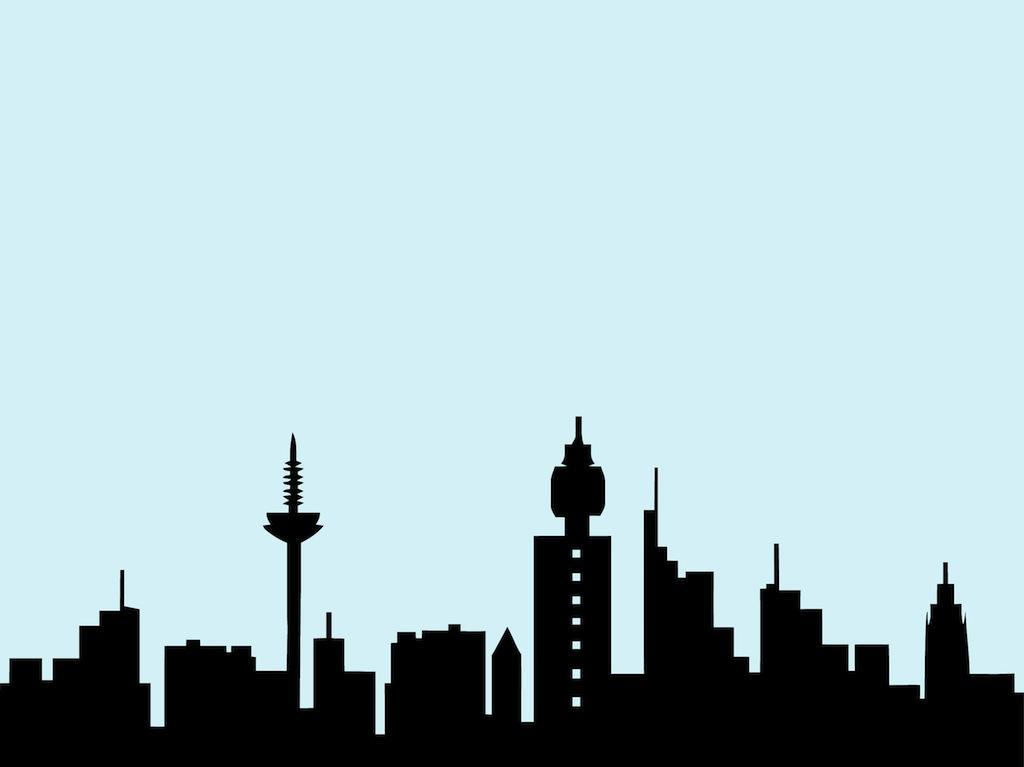 Cityscape nyc skyline clip art