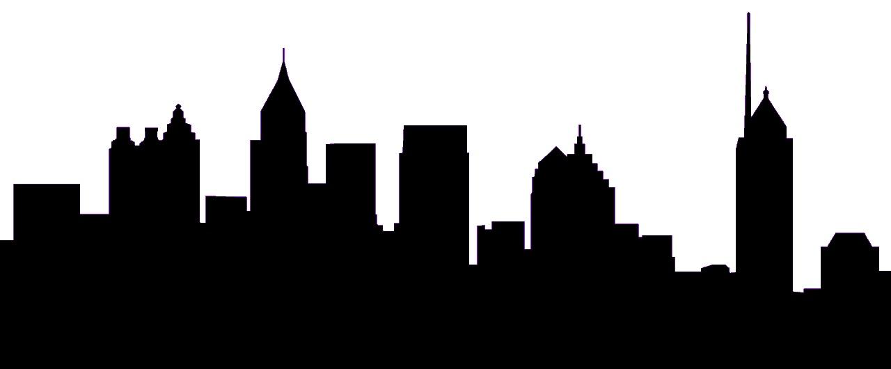 Cityscape silhouette clipart 2