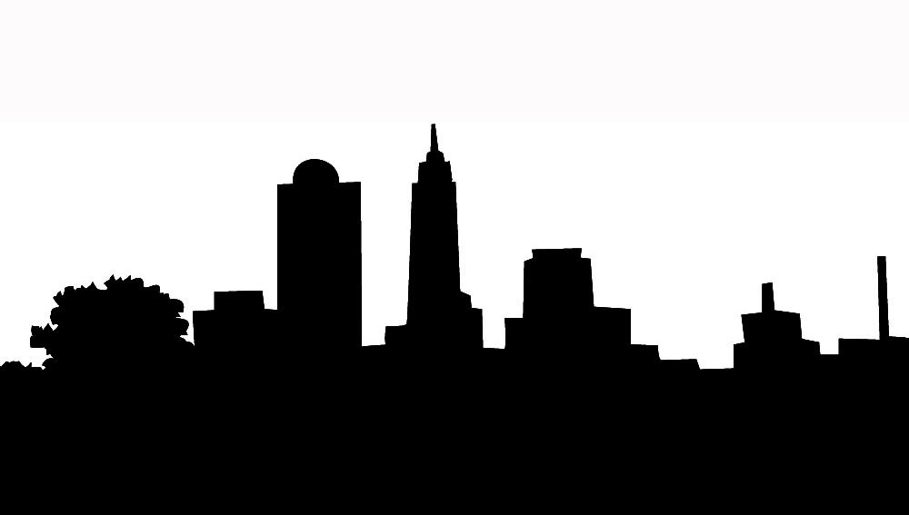 Cityscape silhouette clipart