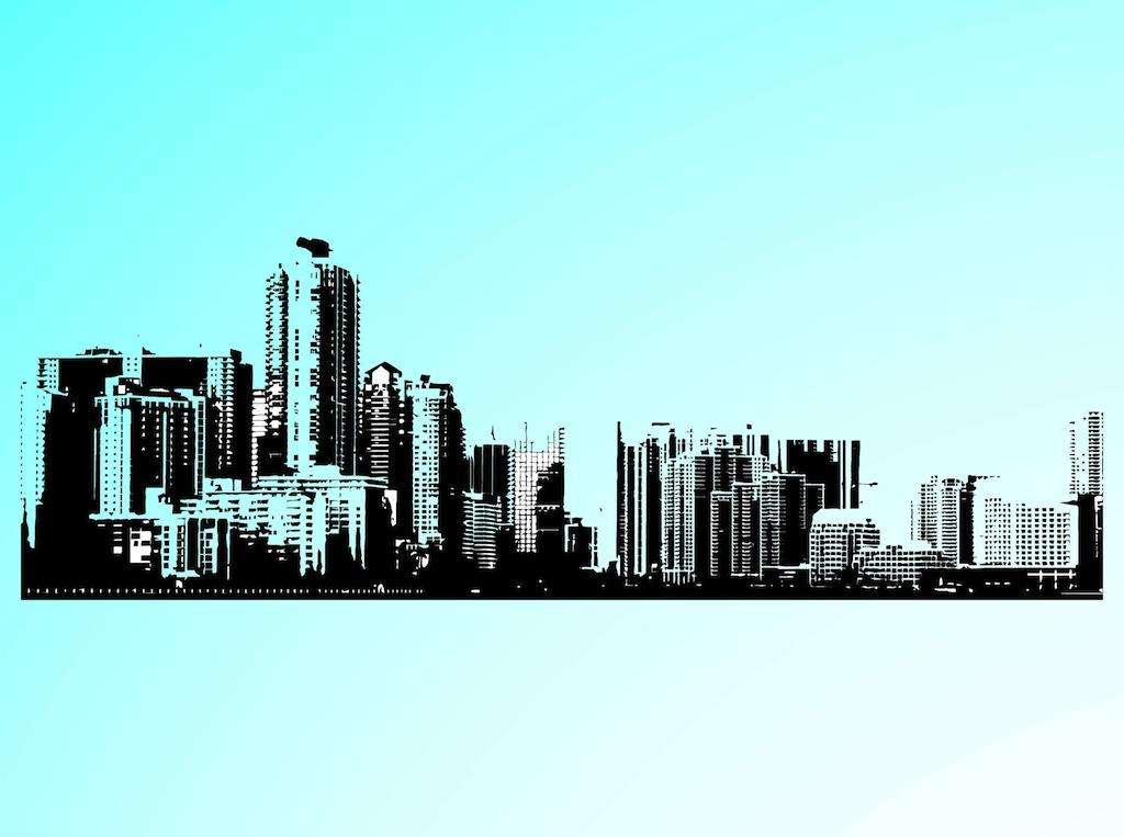 Cityscape urban vectors 4 page clipart
