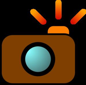 Flash camera brown clip art at vector clip art