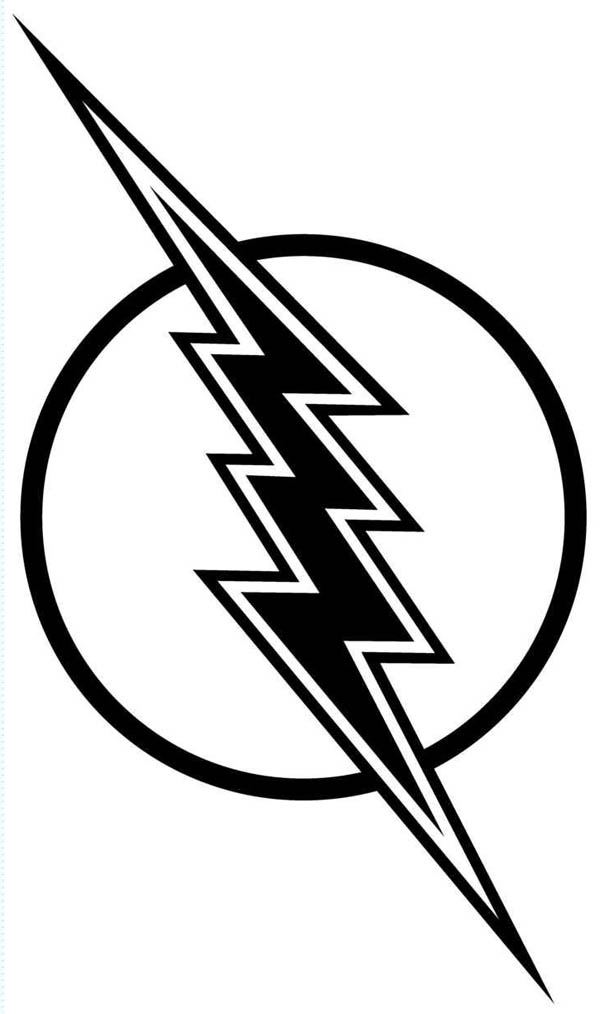 Flash gordon lighting bolt coloring page color luna clipart