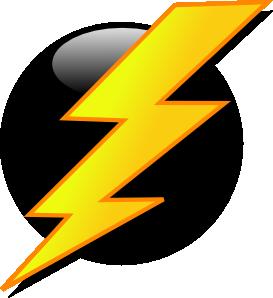 Flash lightning icon clip art at vector clip art